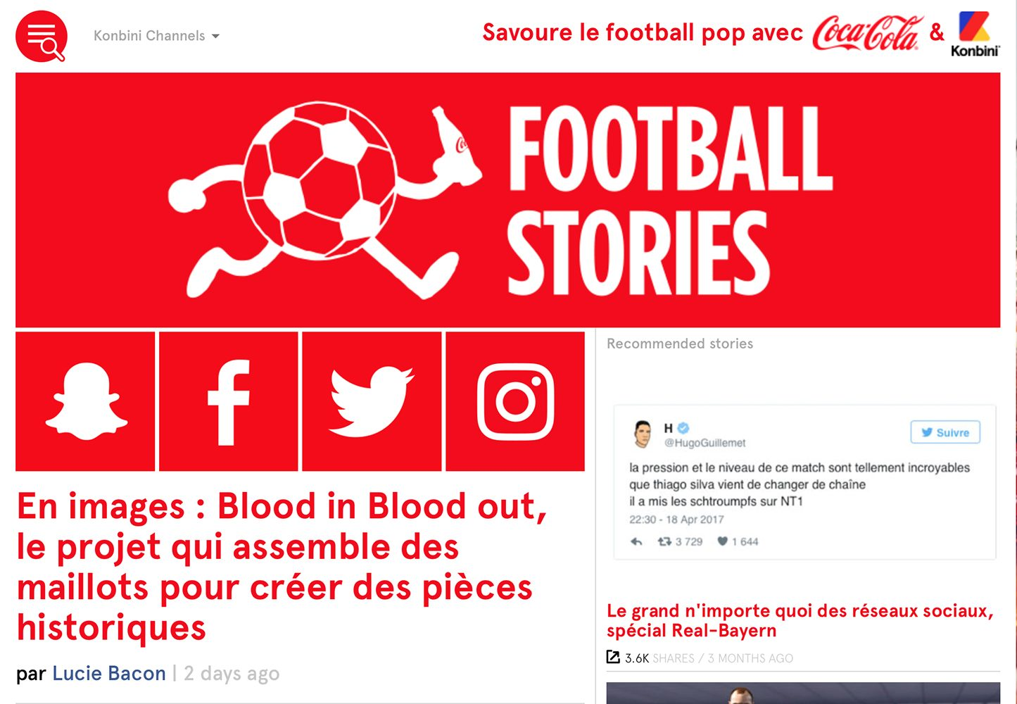 Blood in Blood out on Football Stories - Blood In Blood Out